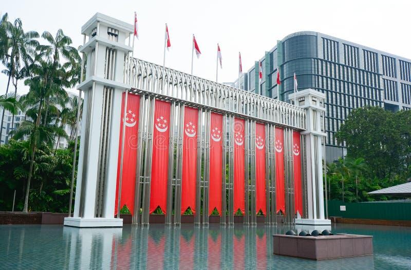 Arco do festival, Singaapore foto de stock royalty free