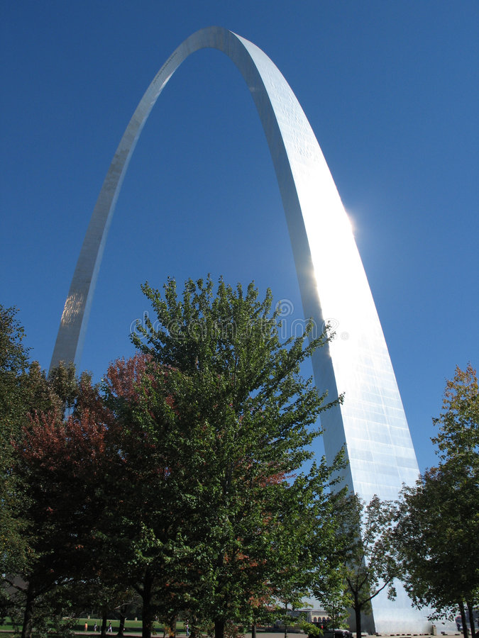 Arco do Gateway de St Louis imagem de stock