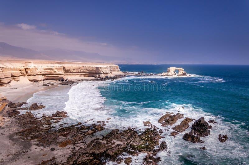 Arco do La Portada em Antofagasta, o Chile fotos de stock royalty free