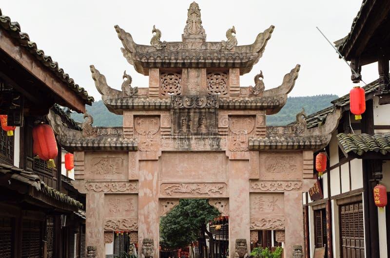 Arco do memorial da China-castidade de Guangyuan imagens de stock royalty free