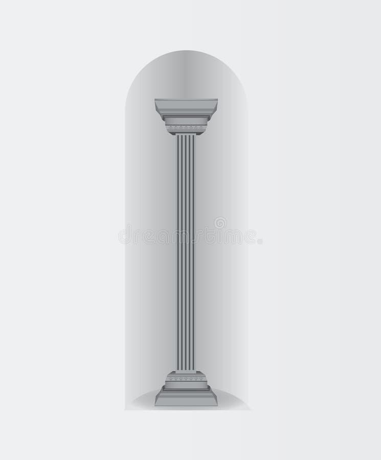 Arco do oval da parede da coluna ilustração do vetor