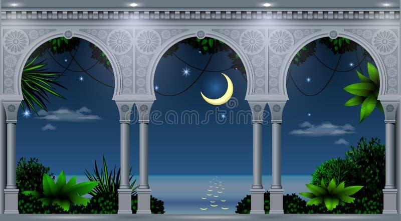 Arco do palácio oriental ilustração stock