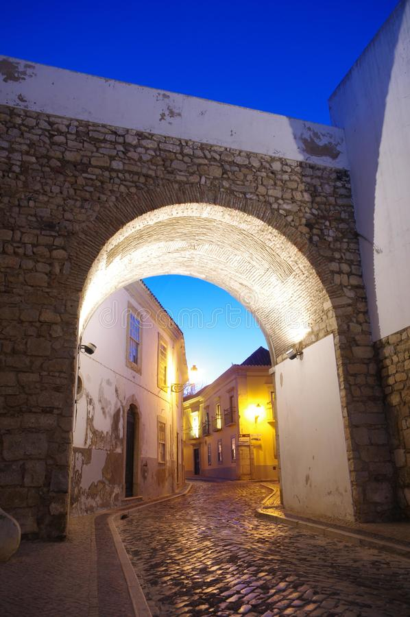 Arco do Repouso. The Arco do Repouso, one of the entrances to the old town in Faro, Portugal. it was built during the islamic occupation of the Iberian Peninsula stock photos
