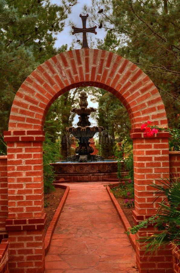Arco do tijolo foto de stock
