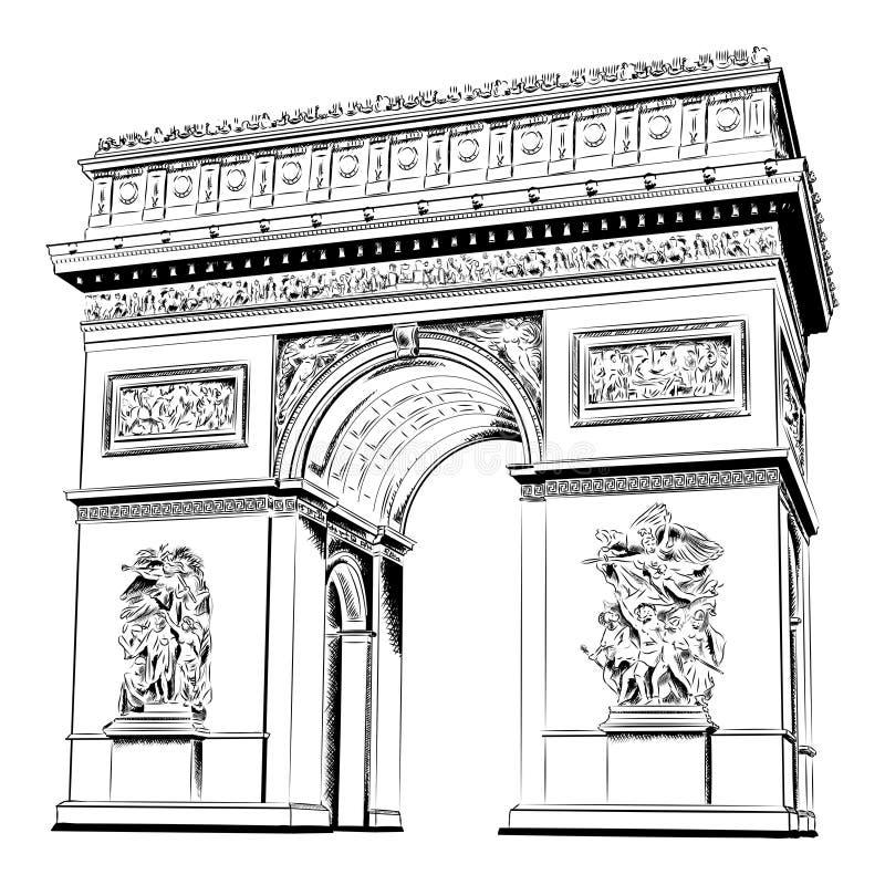 Arco do triunfo ilustração stock