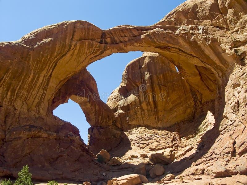 Arco dobro, arcos parque nacional, Utá foto de stock