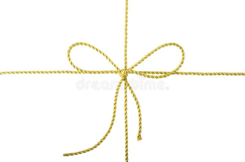 Arco dorato della corda immagine stock