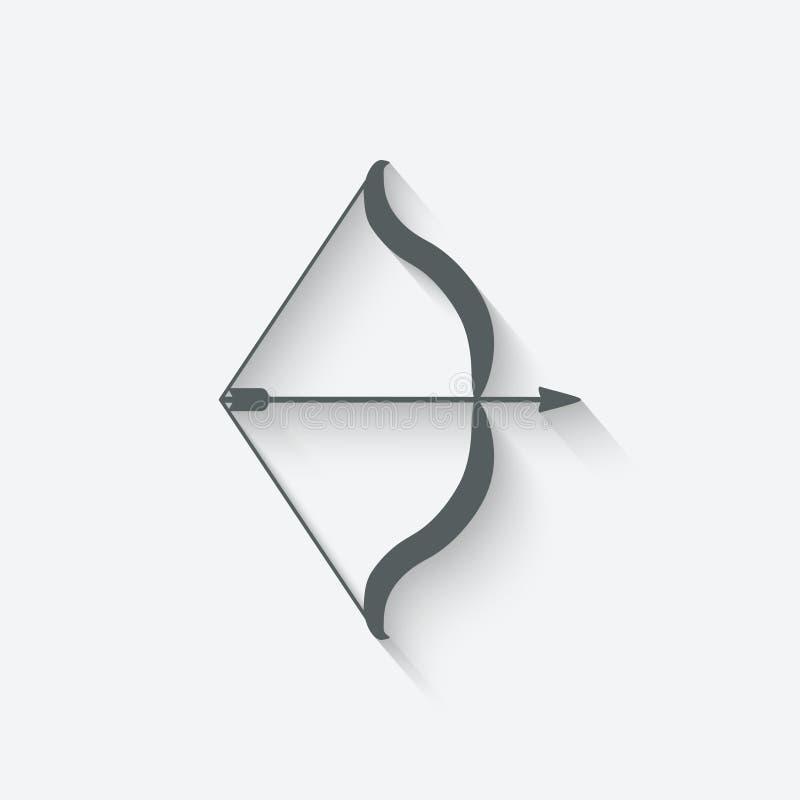 Arco e freccia illustrazione vettoriale