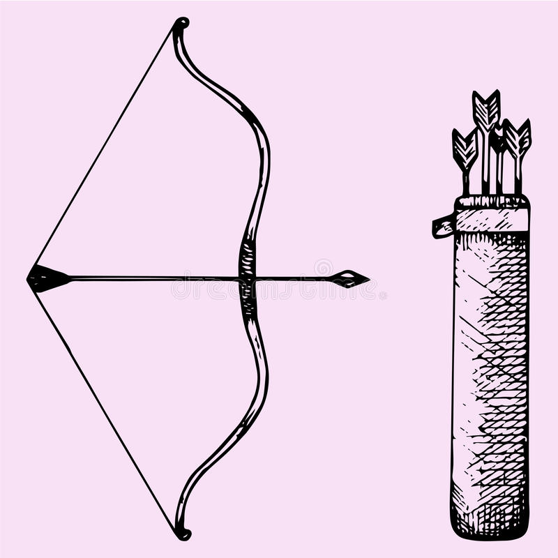 Arco e freccia illustrazione di stock