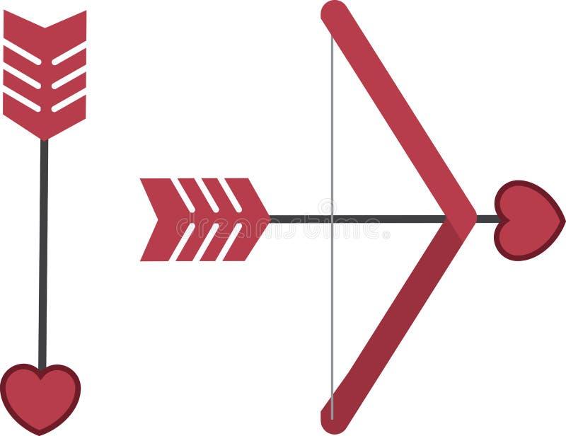 Download Arco e freccia dei cupidi illustrazione vettoriale. Illustrazione di fumetto - 30827273