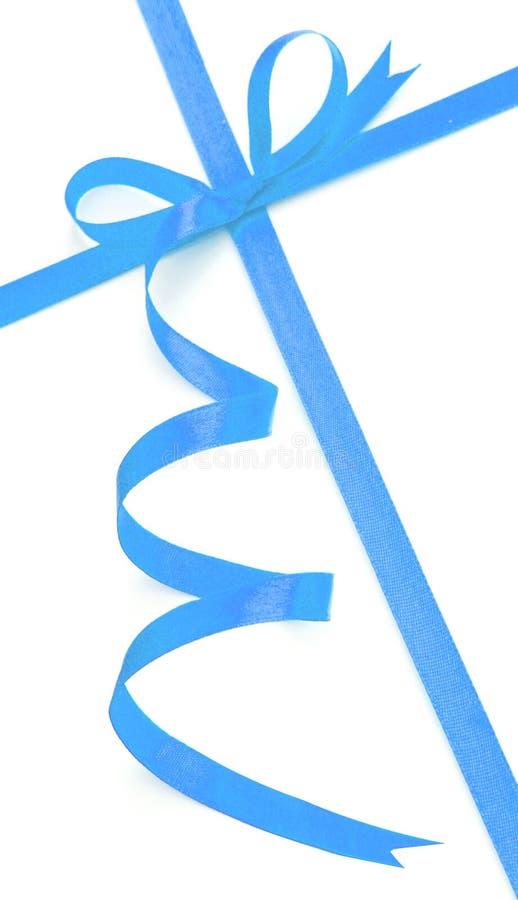 Arco e nastro blu immagini stock libere da diritti