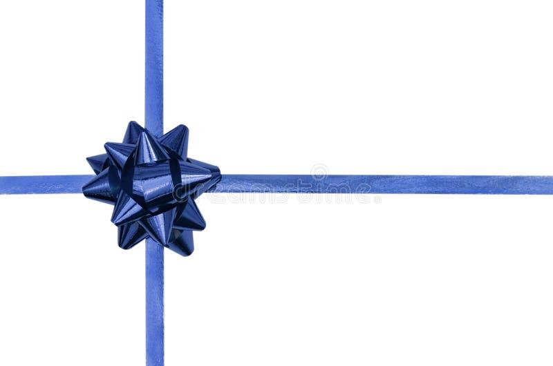 Arco e nastro blu fotografie stock libere da diritti