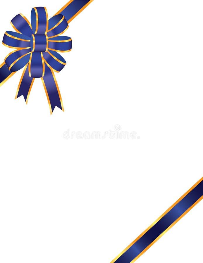 Arco e nastro blu illustrazione vettoriale