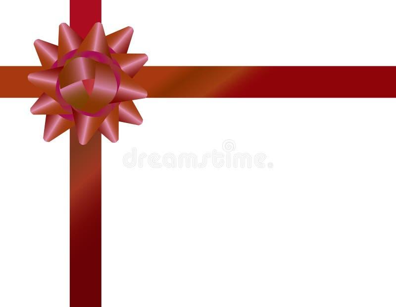 Arco e nastro di spostamento di regalo illustrazione vettoriale