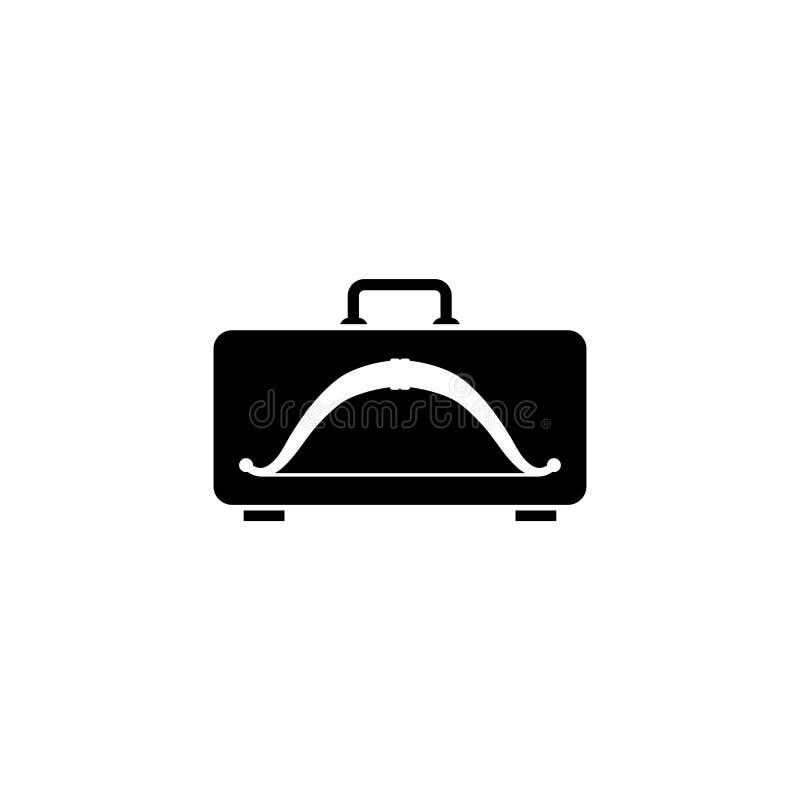 Arco en el icono plano del vector del caso stock de ilustración