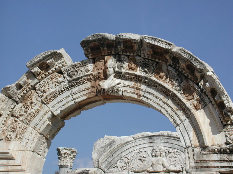 Arco en Ephesus imagenes de archivo