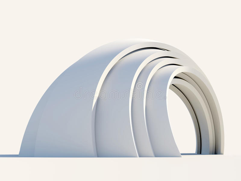Arco en fondo ligero stock de ilustración
