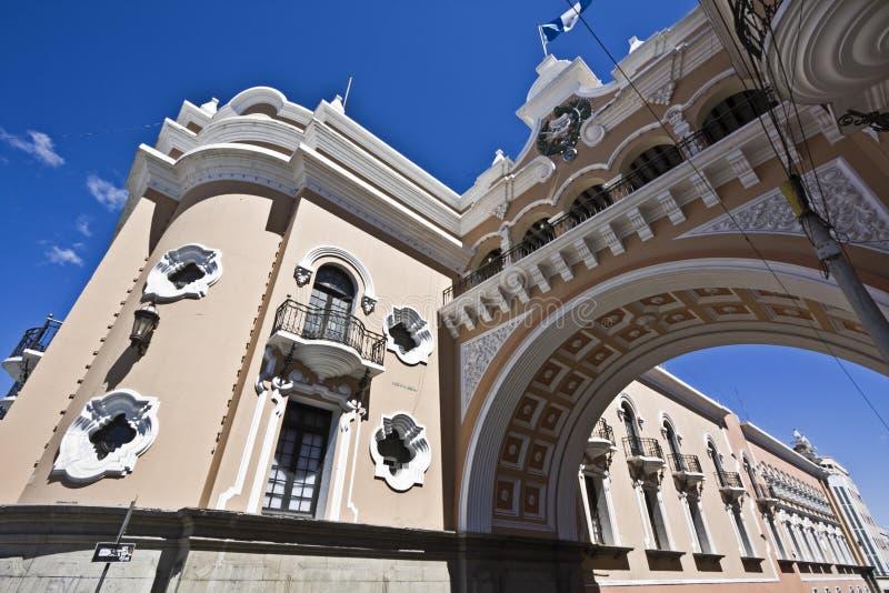 Arco en Guatemala City fotografía de archivo