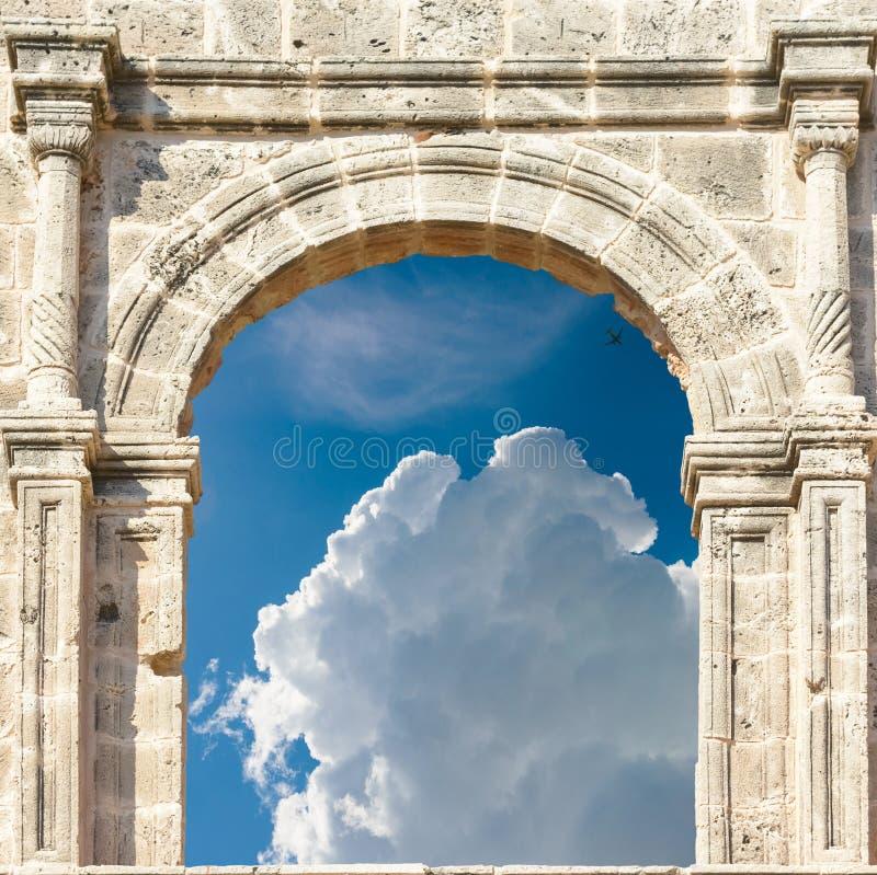 Arco en la fortaleza foto de archivo libre de regalías