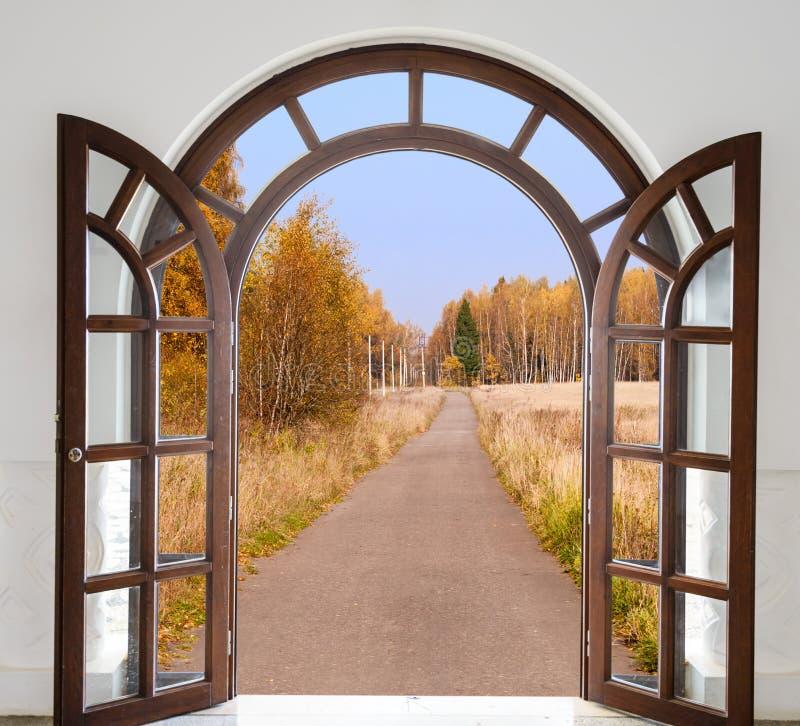Arco en la fortaleza fotografía de archivo