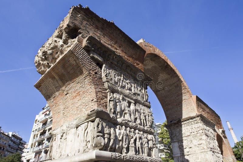 Arco Galerio di Salonicco fotografie stock