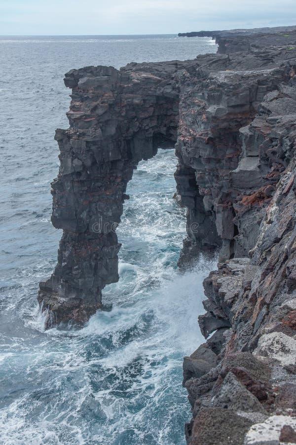 Arco havaiano do mar fotografia de stock royalty free
