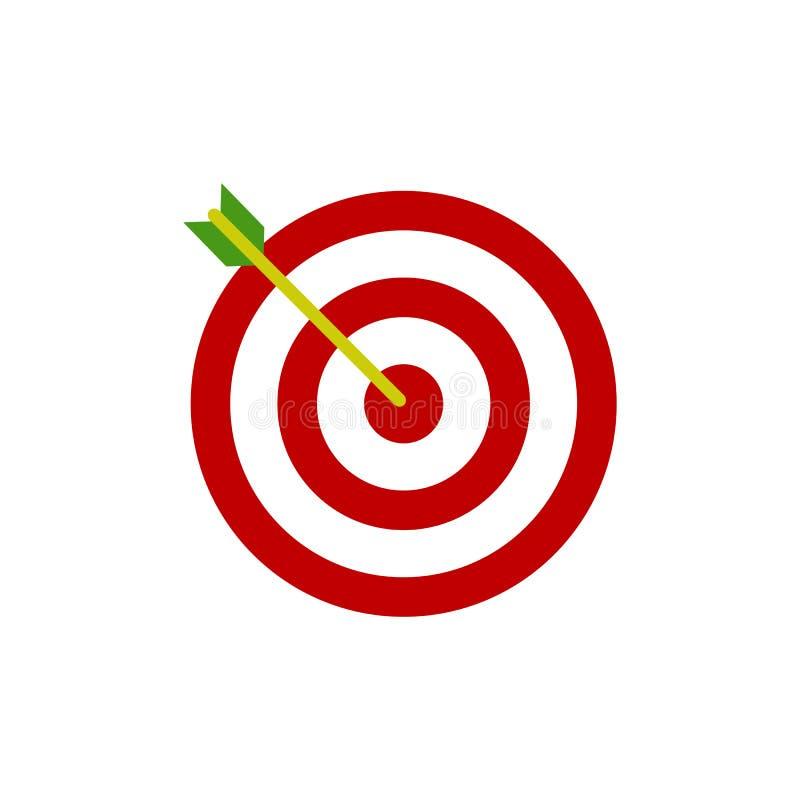 Arco, icono de centro de la blanco del foco Ejemplo del vector, dise?o plano libre illustration