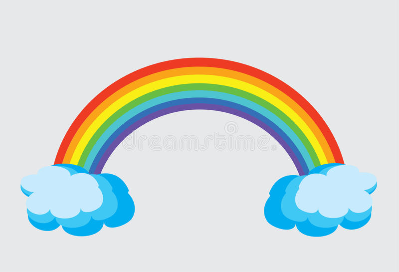 Arco iris stock de ilustración