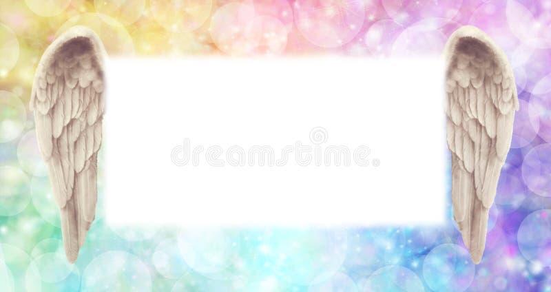 Arco iris Angel Wings Message Board imagen de archivo libre de regalías
