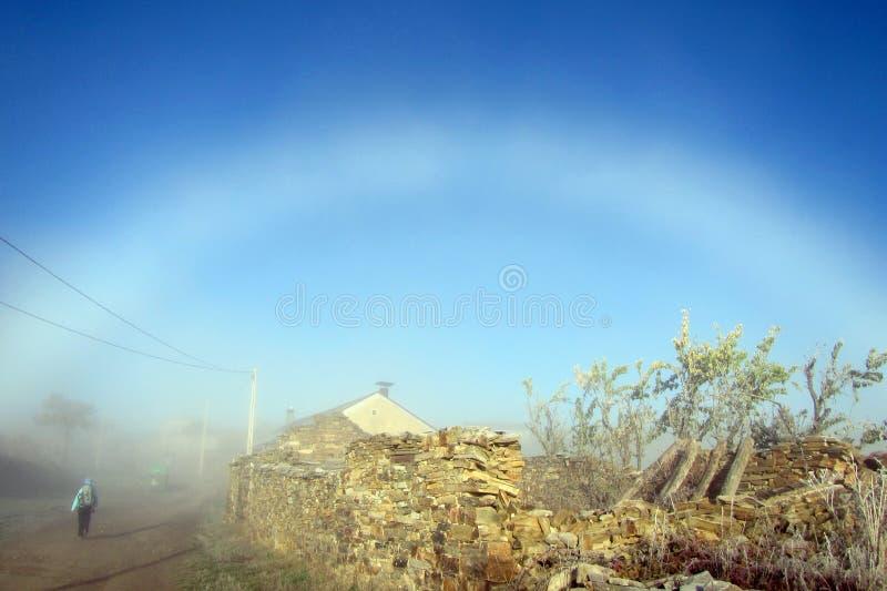 Arco iris blanco imagen de archivo