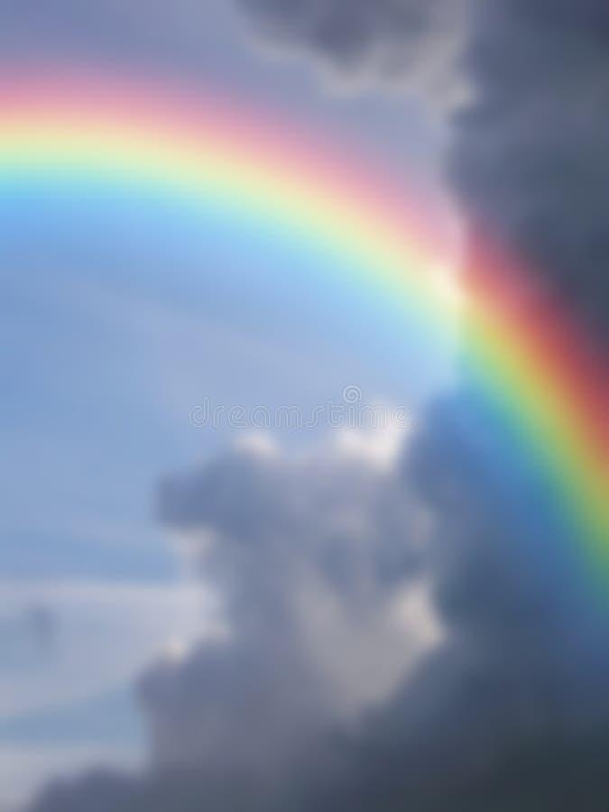 Arco iris borroso Couds del fondo fotografía de archivo