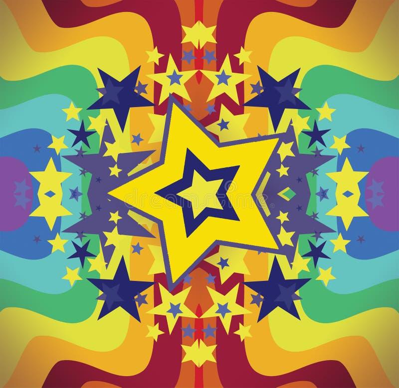 Arco iris brillante de la estrella stock de ilustración