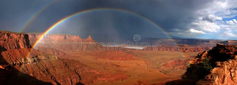 Arco iris de Canyonlands imagen de archivo libre de regalías