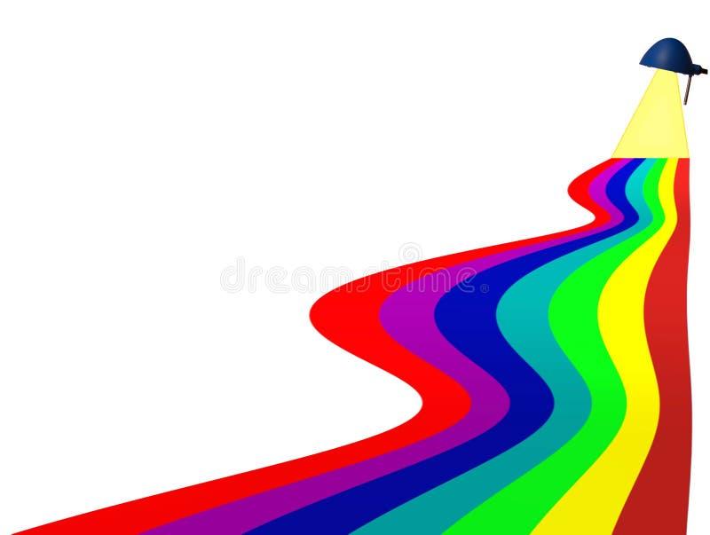 Arco iris de colores ilustración del vector