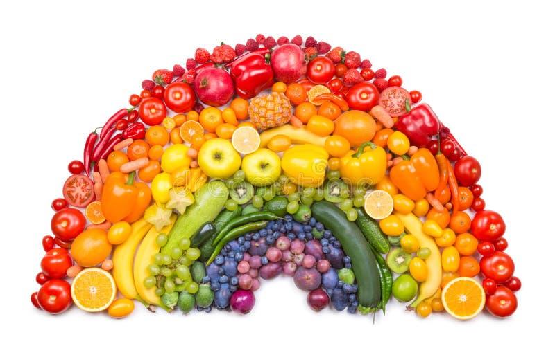 Arco iris de la fruta y verdura foto de archivo libre de regalías