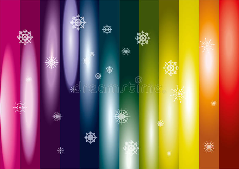 Arco iris de la nieve imagenes de archivo