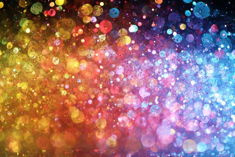Arco iris de luces stock de ilustración
