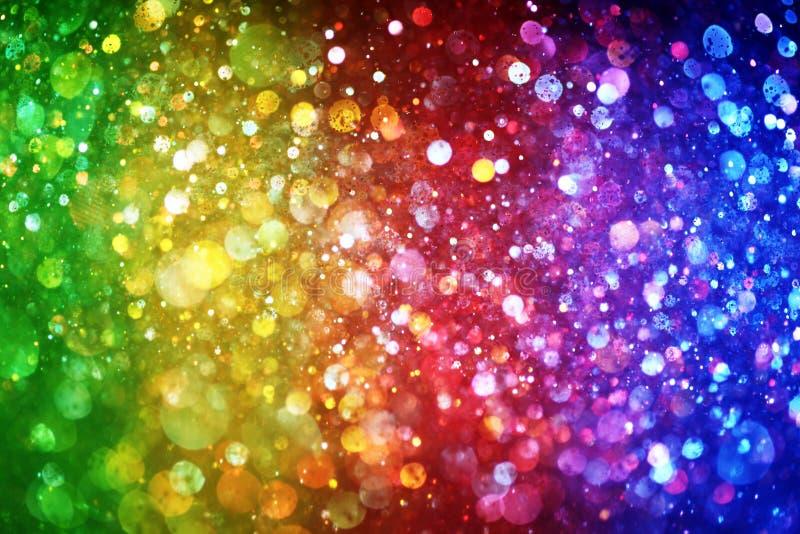 Arco iris de luces ilustración del vector