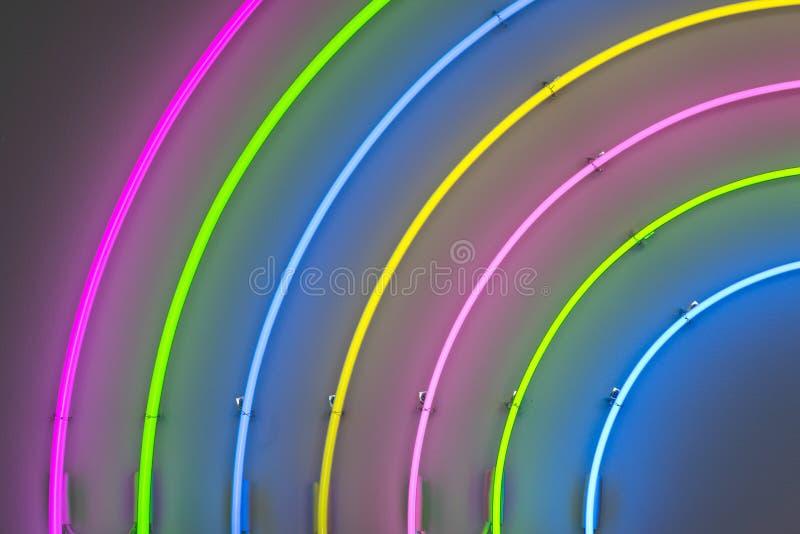 Arco iris de neón fotografía de archivo libre de regalías