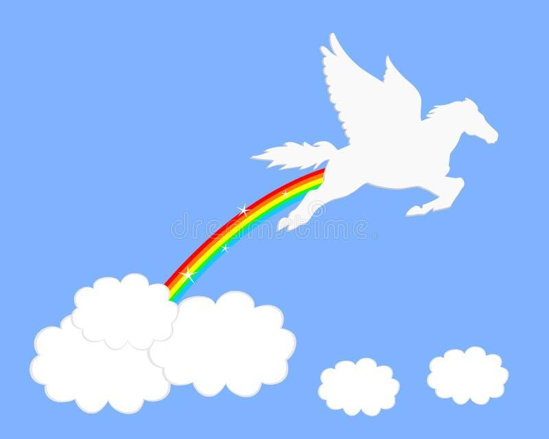 Arco iris de Pegaso ilustración del vector
