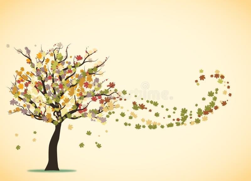 Arco iris del árbol de amor ilustración del vector