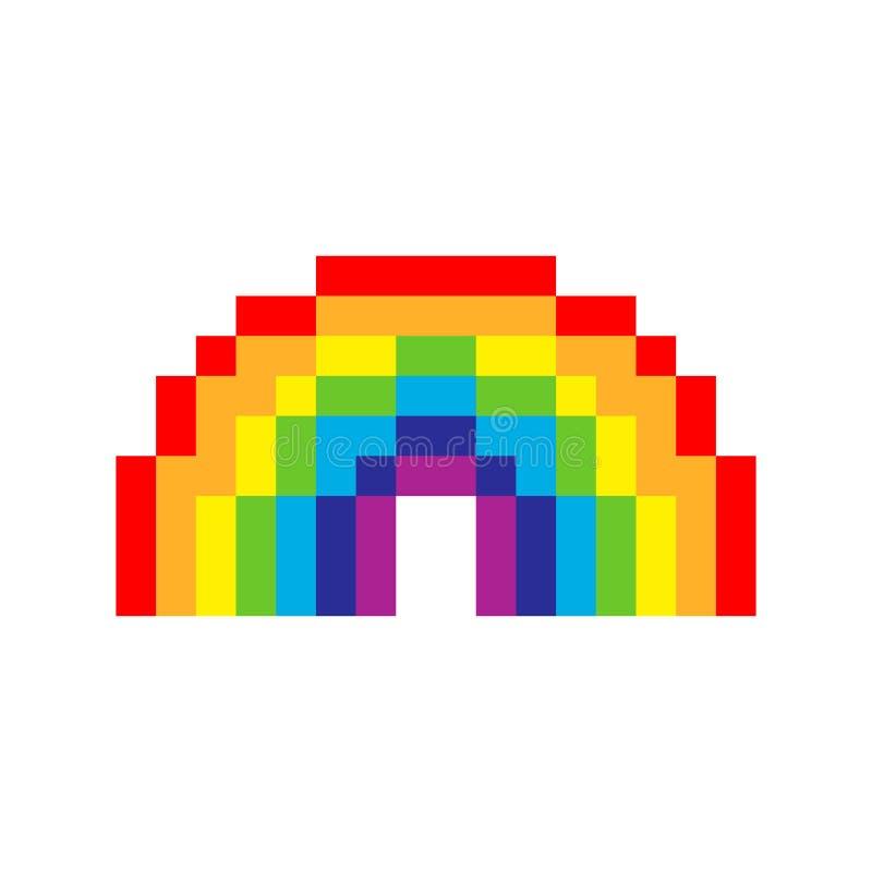 Arco iris del arte del pixel libre illustration