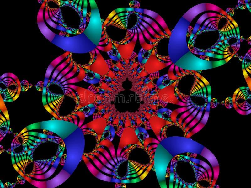 Arco iris del carnaval ilustración del vector