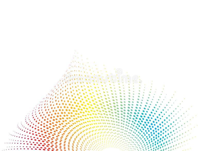 Arco iris del shell stock de ilustración