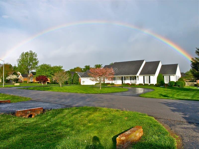 Arco iris después de la tormenta fotos de archivo