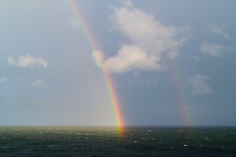 Arco iris doble fotos de archivo libres de regalías