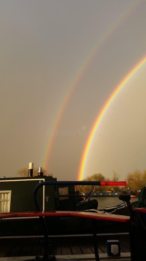 Arco iris doble imagen de archivo