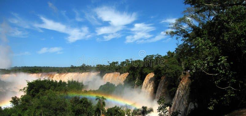 arco iris en Iguazu Falls fotografía de archivo libre de regalías