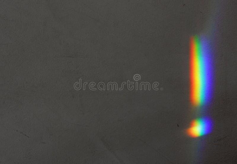 Arco iris en la pared imagen de archivo