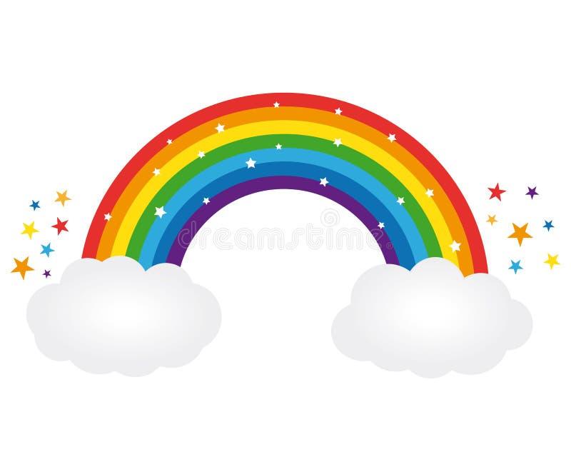 Arco iris estrellado hermoso Ilustración del vector stock de ilustración